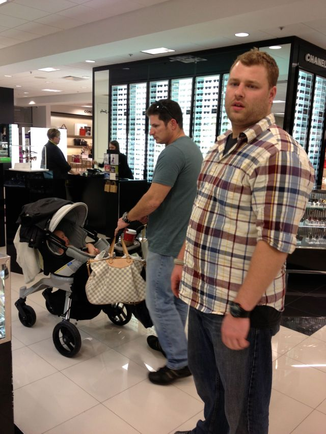 After the party, we went to the mall. Uncle Sean strolled me around for a little bit!