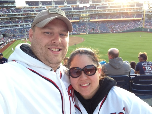 Mom and Dad @ the Nats Game!