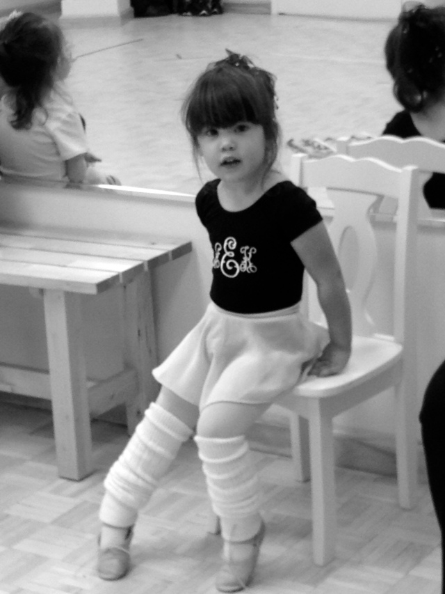 Adora sent me this picture of her at Ballet today!