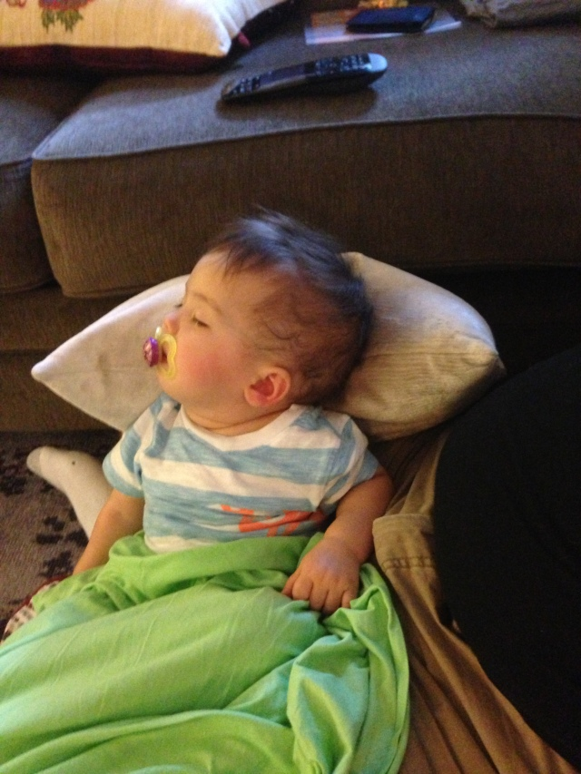 Watching tv, and I fell asleep sitting up! Whoops