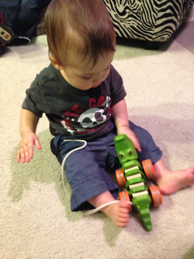 My cousin, Liam, is into Cameros and Crocodiles right now...so I thought I would give it a shot. I actually love this toy! It entertained me for awhile!