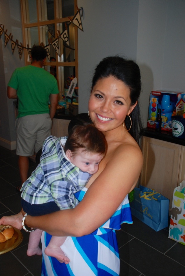 Auntie Angie with Baby Bob!