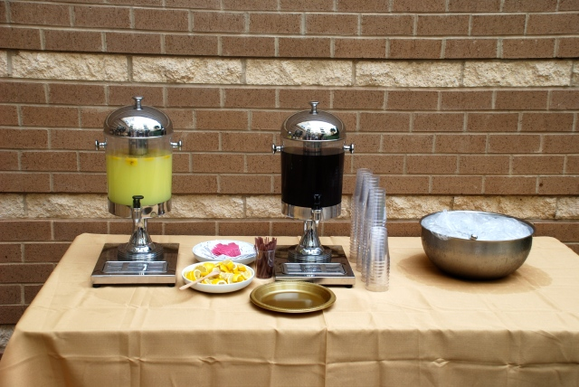 We also had freshly squeezed lemonade and iced tea, along with other beverages daddy says are only for grown-ups.