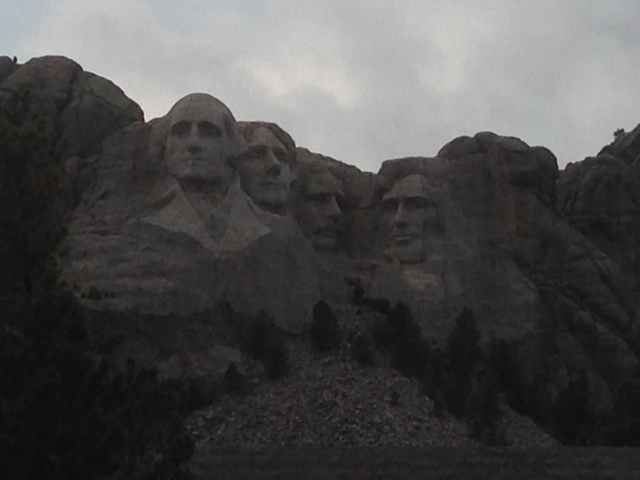 Da Da sent us pictures of Mount Rushmore! He and his friends rode their motorcycles there today!