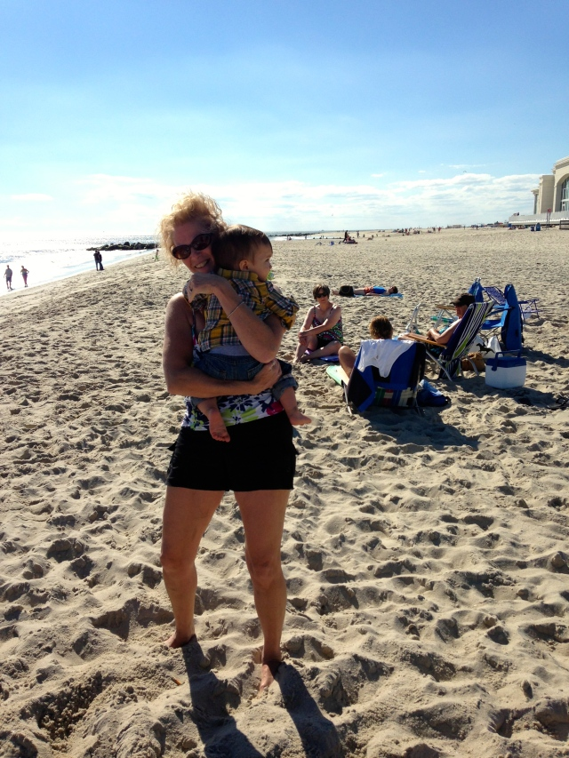 Then, we met Grandma on the beach...but there was only one problem...