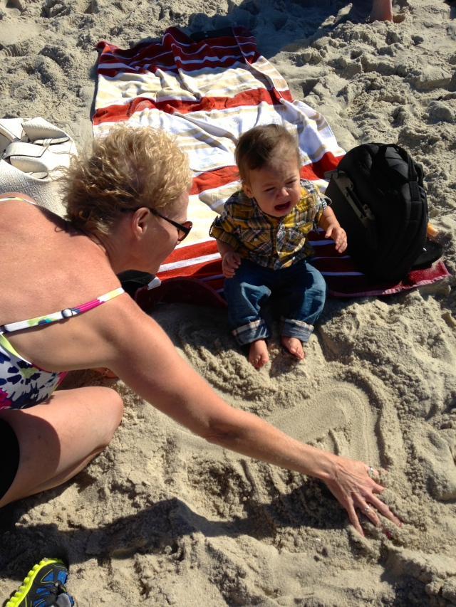 I didn't like the sound of the waves and the gooey sand, yuck!!