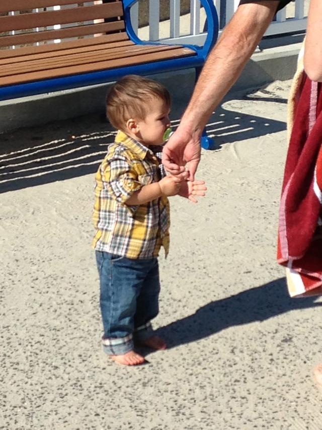 He took my hand...